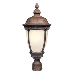Maxim Lighting - Maxim Lighting 85460SFSE Knob Hill EE 1-Light Outdoor Pole/Post Lantern - Knob Hill EE is a traditional, early American style, energy saving collection from Maxim Lighting International in Sienna finish with Snow Flake glass.