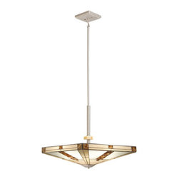 Kichler - Kichler 65363 Bryce 4-Bulb Indoor Pendant with Pyramid-Shaped Glass Shade - Product Features: