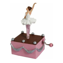 WL - Pink Stage Design Musical Hand Crank with White Tutu Ballerina Figure - This gorgeous Pink Stage Design Musical Hand Crank with White Tutu Ballerina Figure has the finest details and highest quality you will find anywhere! Pink Stage Design Musical Hand Crank with White Tutu Ballerina Figure is truly remarkable.