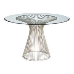 Arteriors - Nova Entry Table - This table radiates modern elegance. The form is iconic, in a wheat-sheaf-like base of shiny rods that add energy and life to your entry or great room. And the circular top of beveled glass is the perfect landing spot for objects you want to show off.