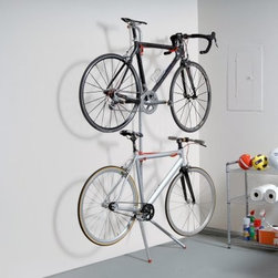 Delta Cycle Donatello Leaning Two Bike Rack - About Delta Cycle Delta Cycle has been applying proven principles of design to the problem of cycling storage for over 20 years. Honing their craft to the point of adopting the slogan, The Art of Storage, Delta boasts and award-winning team of active cyclists and prestigious industrial designers. Store your bikes on a Delta rack, and you'll appreciate that they don't have to be rolling to be a thing of beauty.