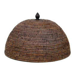 Food Dome With Closed Full Weave - This tight-woven, wicker food dome offers a wonderful element of surprise.