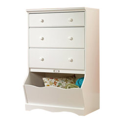 Sauder - Sauder Pogo 3 Drawer Chest in Soft White Finish - Sauder - Chests - 414434