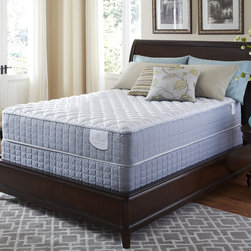 Serta - Serta Perfect Sleeper Luminous Cushion Firm Queen-size Mattress and Foundation S - Upgrade your bedroom with this quality mattress and foundation set by Serta. Specifically designed to balance pressure,this queen-size set features special memory foam so the mattress can gently adjust to the shape of your body while you sleep.
