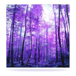"Kess InHouse - Iris Lehnhardt ""Magic Woods"" Purple Forest Metal Luxe Panel (8"" x 8"") - Our luxe KESS InHouse art panels are the perfect addition to your super fab living room, dining room, bedroom or bathroom. Heck, we have customers that have them in their sunrooms. These items are the art equivalent to flat screens. They offer a bright splash of color in a sleek and elegant way. They are available in square and rectangle sizes. Comes with a shadow mount for an even sleeker finish. By infusing the dyes of the artwork directly onto specially coated metal panels, the artwork is extremely durable and will showcase the exceptional detail. Use them together to make large art installations or showcase them individually. Our KESS InHouse Art Panels will jump off your walls. We can't wait to see what our interior design savvy clients will come up with next."