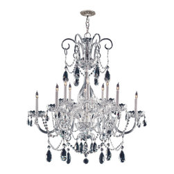6 Light Crystal Chandelier - Add the final touch to your girl's bedroom or baby's nursery with this gorgeous all white glass arm Crystorama chandelier, featured in a Polished Chrome finish and is adorned with hand cut crystals!