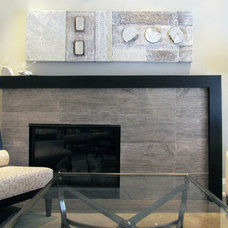Contemporary Indoor Fireplaces by Dochia Interior Design