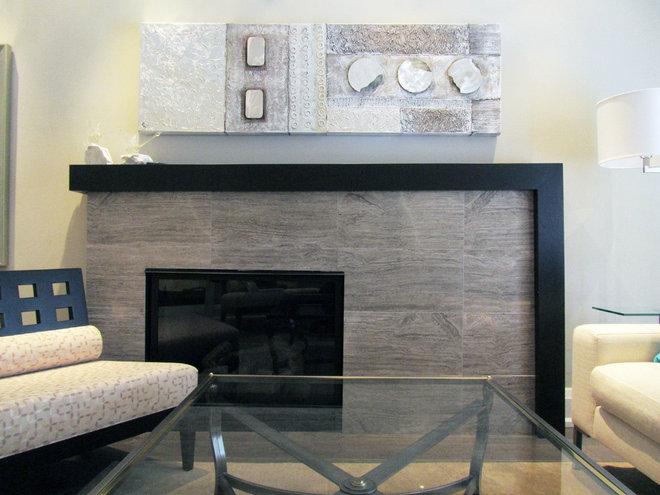 Contemporary Fireplaces by Dochia Interior Design