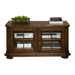 Riverside Furniture - Riverside Cantata 48 Inch TV Console with Glassdoor - Riverside Furniture - TV Stands - 4940 - Features: