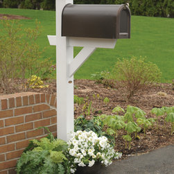 Curb Personality - 1. Try a Mailbox Makeover – Mailboxes should complement your home and express the personality of the homeowner. Dress up mailboxes by painting or staining the wooden post to match the house's woodwork or trim. Our Hazleton Mailbox Post is another great solution for those who don't have time for DIY projects. The luxurious mailbox post is made from Highwood's eco-friendly synthetic wood and comes in several different finishes. It has the natural look of wood, but can be left outside year after year without the maintenance of real-wood.