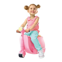 Diggin Active - Diggin Active Skootcase Riding Push Toy - Pink - 5514014 - Shop for Tricycles and Riding Toys from Hayneedle.com! Who knew airport travel with your little one could be so fun - thank you Diggin Active Pink Skootcase. Designed to look like a posh Italian scooter this innovative ride-on toy doubles as a handy suitcase. Fully functional steering and sturdy rubber wheels that work on any surface make for a smooth ride while the interior compartment stores their favorite treasures. Plus the Skootcase is specially sized to fit in a plane's overhead bin and there's even a durable tow strap so you can tote the case when your little traveler grows tired. Winner of the Dr. Toy Best Vacation Products Award it's recommended for ages three and up. About Diggin Active Inc.Established in 2006 Diggin Active was founded by Nathan Keker Jenny Stern and Phil Neal all veterans of the toy industry. Combining more than 30 years in the field the trio created a line of sports toys with one goal in mind - bringing the joy of sports to kids. Their products focus on taking the fear and frustration out of learning sports through top-quality design and performance so kids can develop an enduring passion for sports and an active lifestyle.