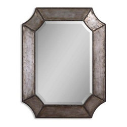 Uttermost Elliott Distressed Aluminum Wall Mirror - 24W x 31.75H in. - About Uttermost The mission of the Uttermost Company is simple: to make great home accessories at reasonable prices. This has been their objective since founding their family-owned business over 30 years ago. Uttermost manufactures mirrors, art, metal wall art, lamps, accessories, clocks, and lighting fixtures in its Rocky Mount, Virginia, factories. They provide quality furnishings throughout the world from their state-of-the-art distribution center located on the West Coast of the United States.