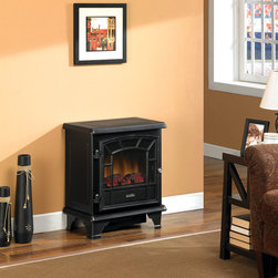 Duraflame - Duraflame 550 Black Electric Fireplace Stove with Remote Control - DFS-550-7 - It should come as no surprise that the Duraflame 550 Black Electric Fireplace Stove with Remote Control is our top selling electric wood stove. Made of durable metal and a matte finish, the sleek and classic lines are perfect for both contemporary or traditional rooms at a remarkably affordable price.