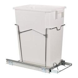 Household Essentials Sliding Trash Can - If you really don't want to see your trash, why not hide it in your cabinets? This system stores your kitchen can out of view.