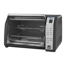 Salton - Black & Decker Convection Toaster Oven - Prepare your favorite dishes more easily with this Black & Decker toaster oven. With a variety of convenient settings and included rotisserie forks,this convection toaster oven allows you to serve up a smorgasbord of tasty foods with one appliance.