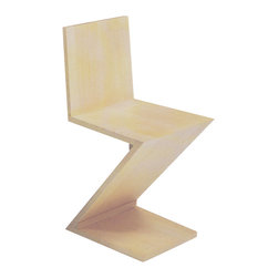 Matrix International - ZIG ZAG Chair - This zig zag was designed by Gerrit Thomas Rietveld and first produced in 1934 by Metz & Company in Amsterdam. The chair is natural stained ash.