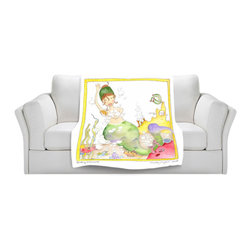 DiaNoche Designs - Throw Blanket Fleece - Bathing - Original Artwork printed to an ultra soft fleece Blanket for a unique look and feel of your living room couch or bedroom space.  DiaNoche Designs uses images from artists all over the world to create Illuminated art, Canvas Art, Sheets, Pillows, Duvets, Blankets and many other items that you can print to.  Every purchase supports an artist!
