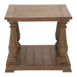 Beautiful and Simple Wood End Table - Description: