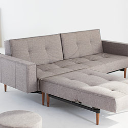 """Armed Mob Sofa Bed - The Armed Mob Sofa Bed is quick and simple to transform into a comfortable bed. Made with a 7"""" pocket spring mattress, the Mob sleeps comfortably and holds its shape very well. Designed in Denmark with Danish modern style."""