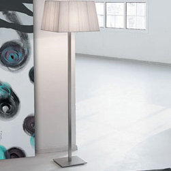 Martina 60 Floor Lamp By Modiss Lighting - Martina 60 by Modiss is a series of contemporary lights that features a rectangular shades finished in silk ribbon.