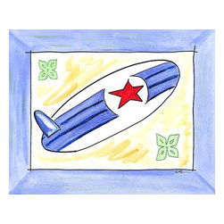 Oh How Cute Kids by Serena Bowman - Surf's Up, Ready To Hang Canvas Kid's Wall Decor, 16 X 20 - Every kid is unique and special in their own way so why shouldn't their wall decor be so as well! With our extensive selection of canvas wall art for kids, from princesses to spaceships and cowboys to travel girls, we'll help you find that perfect piece for your special one.  Or fill the entire room with our imaginative art, every canvas is part of a coordinating series, an easy way to provide a complete and unified look for any room.