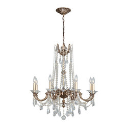 Crystorama Lighting Group - Crystorama Lighting Group 2228-CL-MWP Delancey 8 Light Candle Style Chandelier - Specifications: