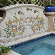 Mediterranean Pool by Tile Visions