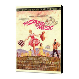 The Sound of Music 27 x 40 Movie Poster - Style A - Museum Wrapped Canvas - The Sound of Music 27 x 40 Movie Poster - Style A - Museum Wrapped Canvas. Amazing movie poster, comes ready to hang, stretched on canvas museum wrap canvas with color sides. Cast: Kym Karath
