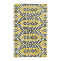 Kaleen - Kaleen Global Inspirations Collection GLB01-28 8' x 10' Yellow - The Global Inspirations collection brings you beautiful motifs influenced by d_cor from all over the world. You no longer need to wander the streets of Europe or Asia looking for that hidden gem, our Global Inspirations collection found it for you!  Each rug is hand-tufted in India from 100% of the very finest wool, to achieve today's hottest worldly designs and patterns.
