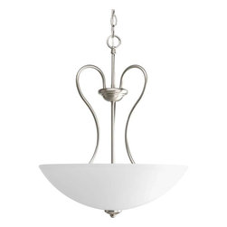 Progress Lighting - Progress Lighting P3955-09 Heart 3 Light Pendant Light In Brushed Nickel - Progress Lighting P3955-09 Heart 3 Light Pendant Light In Brushed Nickel