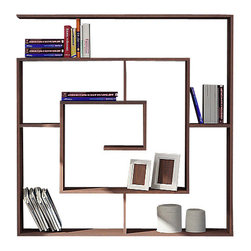 Decortie - LABIRENT BOOKCASE, Wenge - Simple and stylish, the Decortie Labirent Book Shelf would look stunning in a contemporary home. Angular in design, this maze like piece is the perfect way to display your books, art and object. Featuring numerous sections it is both sophisticated and practical.