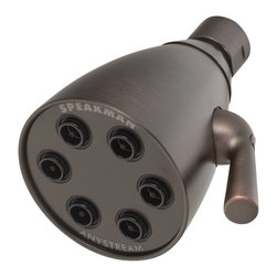 Speakman - Anystream Icon 6 Jet Showerhead, Oil Rubbed Brass - The Anystream Icon 6-Jet Showerhead embraces and updates legacy Speakman technology with refined, solid-brass components, modern contours and an assortment of attractive finishes to complement any shower decor.