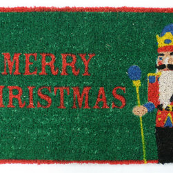 Entryways - Nutcracker Hand Woven Coconut Fiber Doormat - Designed by an artist, this distinctive mat is a work of art that will add a welcoming touch to any home. It is from Entryways' handmade collection and meets the industry's highest standards. This decorative mat is handsomely hand woven and hand stenciled.