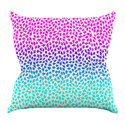 """Kess InHouse - Sreetama Ray """"Ombre Arrows"""" Blue Pink Throw Pillow (16"""" x 16"""") - Rest among the art you love. Transform your hang out room into a hip gallery, that's also comfortable. With this pillow you can create an environment that reflects your unique style. It's amazing what a throw pillow can do to complete a room. (Kess InHouse is not responsible for pillow fighting that may occur as the result of creative stimulation)."""