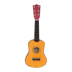 The Original Toy Company - The Original Toy Company Kids Children Play Wooden Guitar - Wood construction. 6 strings. Tunable. Retail boxed with handle. Size 22 inch. Ages 5 years plus. Weight: 4 lbs.