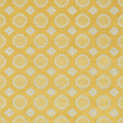 """Loloi Rugs - Loloi Rugs Oasis Collection - Lemon / Ivory, 2'-3"""" x 3'-9"""" - Boldly designed and brightly colored, our Oasis Collection transforms any outdoor space into a modern patio paradise. This collection is power loomed in Egypt, ensuring precision in color and design for each and every piece. And because the 100% polypropylene yarns are specially tested to withstand UV rays and rain, it's the perfect all-weather rug."""