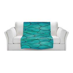 DiaNoche Designs - Throw Blanket Fleece - Sea Waves Pattern - Original Artwork printed to an ultra soft fleece Blanket for a unique look and feel of your living room couch or bedroom space.  DiaNoche Designs uses images from artists all over the world to create Illuminated art, Canvas Art, Sheets, Pillows, Duvets, Blankets and many other items that you can print to.  Every purchase supports an artist!