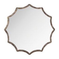 Silver Scallop Antique Silver Wall Mirror - I love this large scalloped wall mirror. I'm planning to use it over a fireplace for a project I am currently working on.