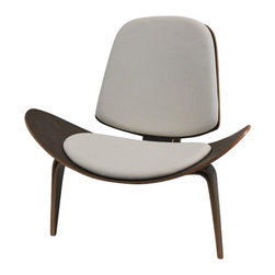 Fine Mod Imports - Shell 3-Leg Accent Chair, White - Features