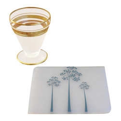 Modern-twist - Coaster Notz - Tree of Us, Teal - They can be personalized time and again using a ballpoint pen. Offered in a variety of colors, each pattern comes in a box of four. Care: Keep away from sharp objects. Must wipe or rinse to prevent staining. Heat proof to 250C or 482F. Not a trivet.