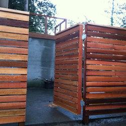 Contemporary cedar fence - cedarcraft construction