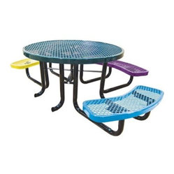 Leisure Craft Childrens Round Accessible Picnic Table