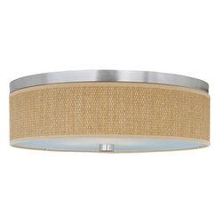 ET2 - ET2 E95104-101 Elements 3-Bulb Flush Mount Indoor Ceiling Fixture - Fabric Shade - Product Features: