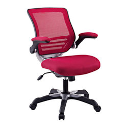Modway Furniture - Modway Edge Office Chair in Burgundy - Office Chair in Burgundy belongs to Edge Collection by Modway Welcome to a new era in functional comfort. The Edge office chair combines old time charm with cutting edge ergonomics to deliver one comprehensive seating experience. Every feature imaginable in a chair is available as soon as you sit down. This is a chair that you can conform to behave exactly how you need it. The Edge Office Chair ��_��_��_��_�� giving you the comfort you need when you need it most. Set Includes: One - Edge Office Chair with Mesh Fabric Seat Office Chair (1)
