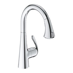 Grohe 32298001 LadyLux3 Cafe Locking Dual-Spray Kitchen Faucet With Pull-Down Sp -