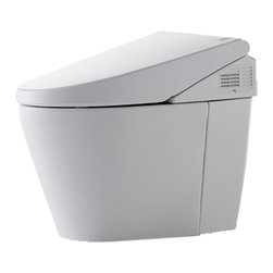 Toto - Toto MS982CUMG#01 Neorest 550H Dual Flush Toilet (Cotton White) - The newest Neorest 550H with eWater+ is the latest generation Neorest with extraordinary water-savings, eWater+ cleaning option, and a Cyclone dual flushing system. It is a truly remarkable combination of ecology and luxury, and its exclusive cyclone flushing system features a state-of-the-art, hole-free rim design that offers a nozzle bowl cleansing that creates a centrifugal, cyclonic cleaning action. Also featuring Toto's patented, super-smooth glazing, this bowl is engineered to prevent debris, mold, particles and bacteria from sticking to the porous surfaces. Along with regular cleaning, Sana Gloss will keep your Toto chinaware cleaner for a longer period of time. This model comes in a beautiful, clean, Cotton White finish.