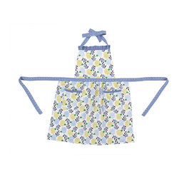 Peking Handicraft - Green & Blue Dandelion Avalon Apron - With a comfy cotton design that is machine washable for convenient use, this apron is an essential cooking accessory that helps keep your outfit splash-free.   22'' W x 30'' H 100% cotton Machine wash Imported