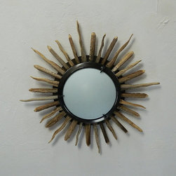 "Saguaro Cactus Rib Ceiling Medallion Light by Desert Gallery - This ceiling medallion is an affordable ""sun"" option for your desert nursery."