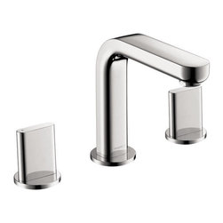 Hansgrohe - Hansgrohe Metris S Chrome Widespread 1.5 GPM Bathroom Lavatory Faucet - This is a brand new lavatory faucet from Hansgrohe (model # 31063001). This faucet features solid brass construction, 90 degrees ceramic disc cartridge, and a 1.5 GPM flow rate (30% water savings).