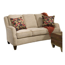 Chelsea Home Furniture - Chelsea Home Sofa in Maniac Sand - Mavercik Hazelnut with Accent Pillows - Russell Apt Size sofa in Maniac Sand - Maverick Hazelnut with Accent Pillows belongs to the Chelsea Home Furniture collection